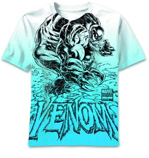 Venom VQ Sketch Glow All-Over-Print T-Shirt Large