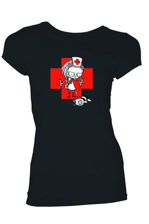 Lenore Nurse Lenore Black Juniors T-Shirt Large
