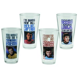 Star Trek 4-Piece 16-Ounce Glass Set