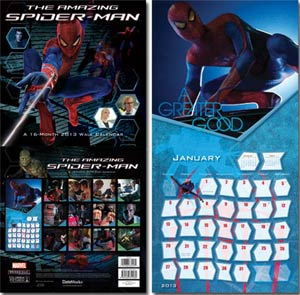 Amazing Spider-Man Movie 2013 12x12-Inch Wall Calendar