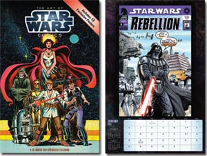 Star Wars Saga Comic Art 2013 11x17-Inch Spiral Wall Calendar