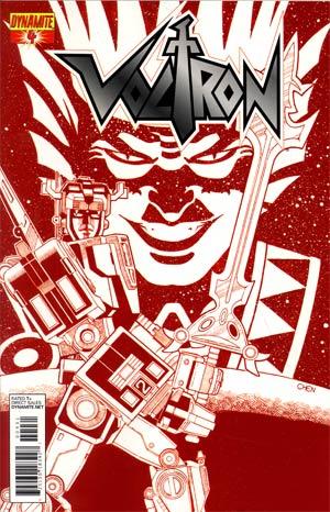 Voltron #4 Cover C Incentive Sean Chen Fiery Red Cover