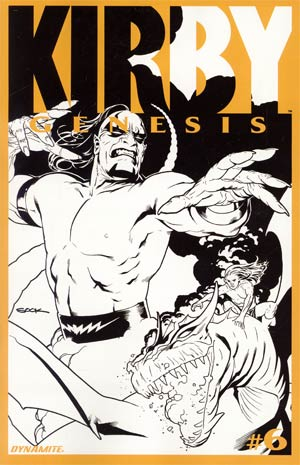 Kirby Genesis #6 Cover C Incentive Ryan Sook Black & White Cover