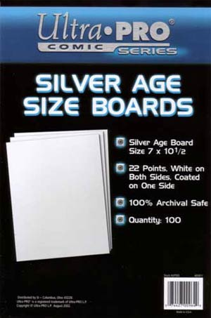 Ultra Pro Silver Age Size Boards 100-Pack