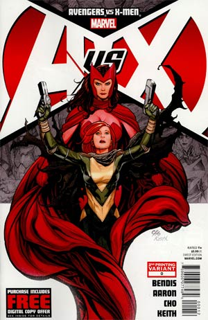Avengers vs X-Men #0 Cover B 2nd Ptg Frank Cho Variant Cover
