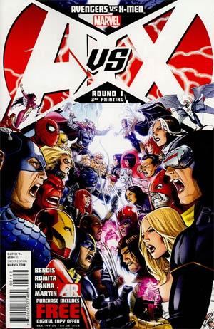 Avengers vs X-Men #1 Cover J 2nd Ptg Jim Cheung Variant Cover