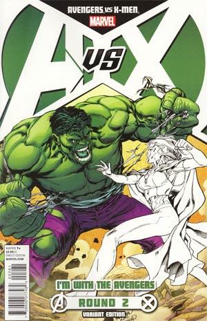 Avengers vs X-Men #2 Cover B Variant Team Avengers Cover