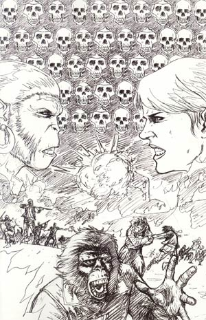 Planet Of The Apes Vol 3 #13 Incentive Damian Couceiro Virgin Sketch Cover