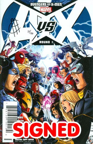 Avengers vs X-Men #1 Cover P DF Signed By Jim Cheung