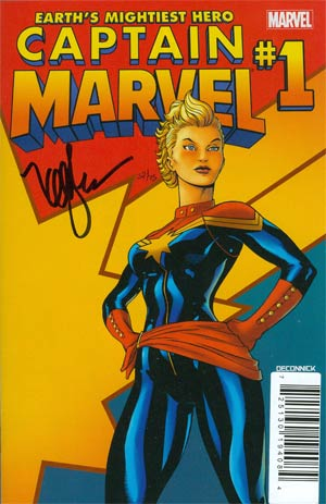 Captain Marvel Vol 6 #1 DF Signed By Kelly Sue DeConnick