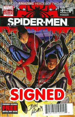 Spider-Men #1 Cover D DF Signed By John Romita Sr