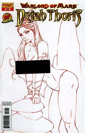Warlord Of Mars Dejah Thoris #16 DF Exclusive Martian Red Risque Cover