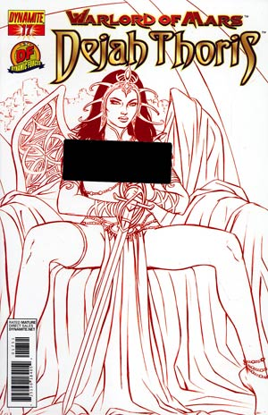Warlord Of Mars Dejah Thoris #17 DF Exclusive Martian Red Risque Cover