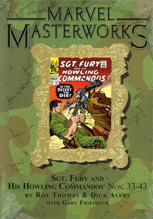 Marvel Masterworks Sgt Fury Vol 4 HC Variant Dust Jacket