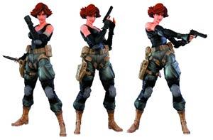 Metal Gear Solid Play Arts Kai Meryl Silverburgh Action Figure