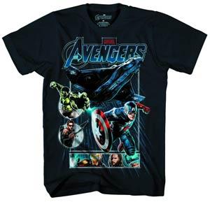 Avengers Drop Ship Navy T-Shirt Large