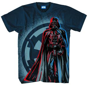 Star Wars Walking Sith Navy T-Shirt Large