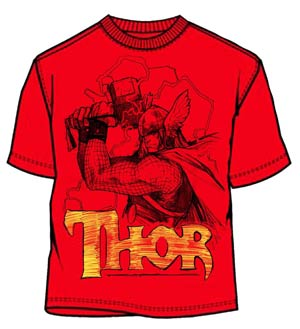 Thor All Thor Red T-Shirt Large