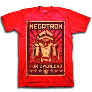 Transformers Megatron For Overlord Red T-Shirt Large