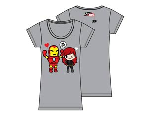 Marvel x tokidoki Black Widow Juniors T-Shirt Large