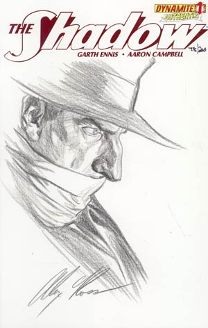 Shadow Vol 5 #1 Incentive Authentix Cover With Hand-Drawn Alex Ross Sketch Edition 78 of 200 (one of a kind - sold as is)