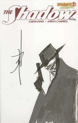 Shadow Vol 5 #1 Incentive Authentix Cover With Hand-Drawn Jae Lee Sketch Edition 29 of 218 (one of a kind - sold as is)