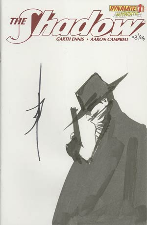 Shadow Vol 5 #1 Incentive Authentix Cover With Hand-Drawn Jae Lee Sketch Edition 43 of 218 (one of a kind - sold as is)