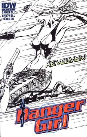 Danger Girl Revolver #4 Cover C Incentive J Scott Campbell Sketch Cover