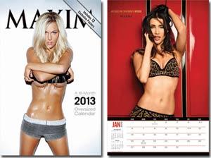 Maxim 2013 11x17-Inch Spiral Wall Calendar