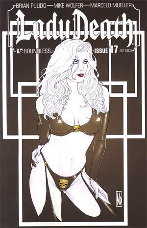 Lady Death Vol 3 #17 Incentive Art Deco Variant Cover