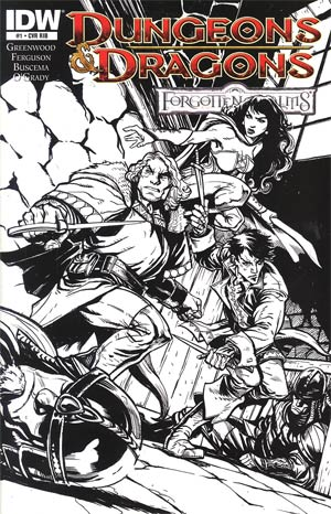Dungeons & Dragons Forgotten Realms #1 Cover D Incentive Bonus Edition With Script & Annotations