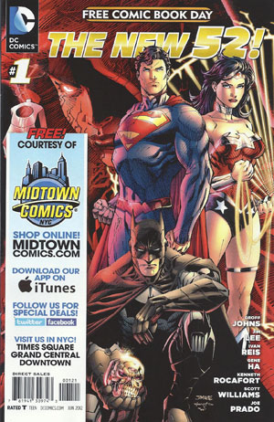 FCBD 2012 DC Comics The New 52 Special Edition Variant Midtown Comics Customized Cover