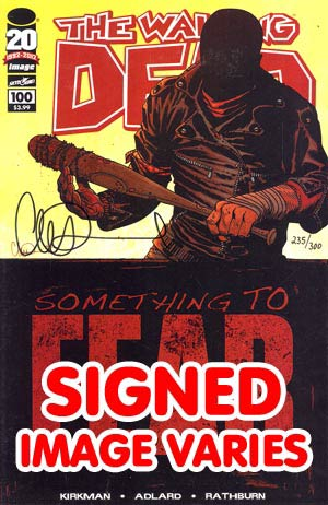 DO NOT USE Walking Dead #100 DF Signed By Charlie Adlard (Filled Randomly With 1 Of 8 Covers)
