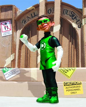 MAD Just-Us League Of Stupid Heroes Series 2 Alfred E Neuman As Green Lantern Action Figure