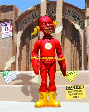 MAD Just-Us League Of Stupid Heroes Series 2 Alfred E Neuman As The Flash Action Figure