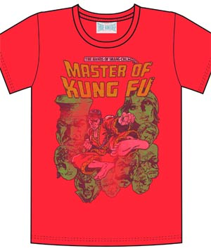 Master Of Kung Fu Previews Exclusive Red T-Shirt Large
