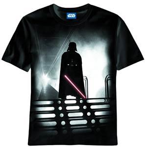 Star Wars Red Saber Black T-Shirt Large