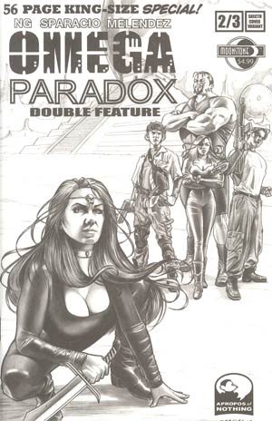 Omega Paradox Double Feature One Shot Incentive Sketch Variant Cover