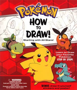 Pokemon How To Draw Kit Starting With All-Stars TP