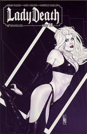 Lady Death Vol 3 #18 Incentive Art Deco Variant Cover