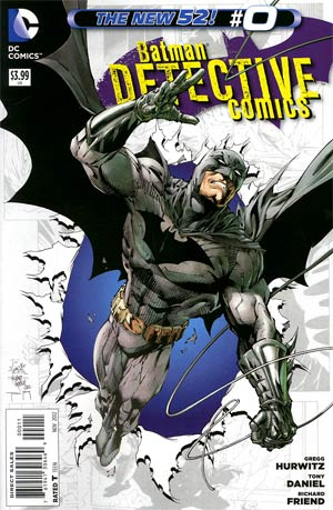 Detective Comics Vol 2 #0 Regular Tony S Daniel Cover