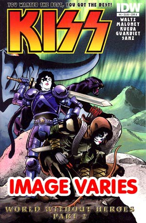 DO NOT USE KISS Vol 2 #4 Regular Cover (Filled Randomly With 1 Of 2 Covers)