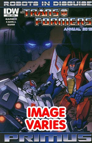 DO NOT USE Transformers Robots In Disguise Annual 2012 1st Ptg Regular Cover (Filled Randomly With 1 Of 2 Covers)