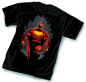 Batman On Fire T-Shirt Large