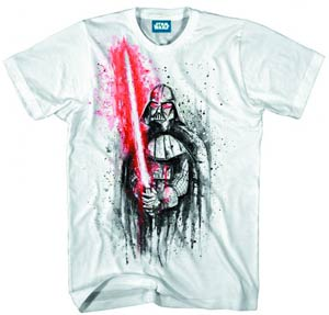 Star Wars Darth Vaders Last Stand Previews Exclusive White T-Shirt Large