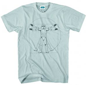 Star Wars Vitruvian Trooper Cream T-Shirt Large