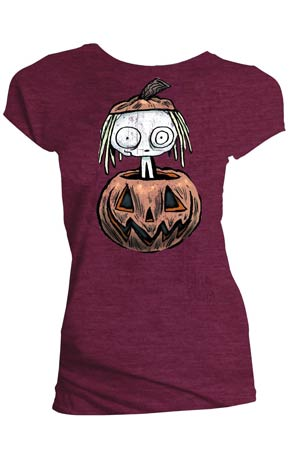 Lenore Pumpkin Black Juniors T-Shirt Large