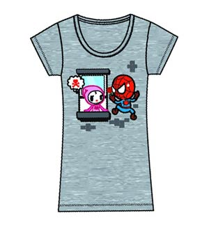DO NOT USE (Item Cancelled) Marvel x tokidoki Spider-Man Mon Amour Juniors T-Shirt Large