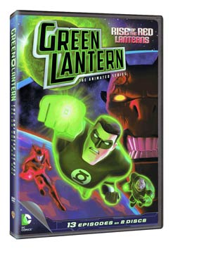 Green Lantern The Animated Series Season 1 Part 1 Rise Of The Red Lanterns DVD