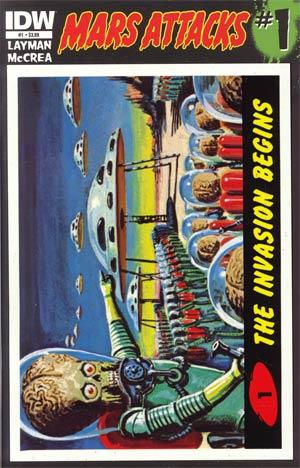Mars Attacks Vol 3 #1 Cover A 1st Ptg Regular Card 01 Cover